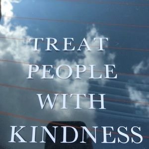 Treat people with kindness car sticker